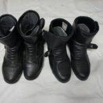 Alenovi stari čevlji (levo) in novi (desno)