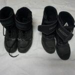 Kajini stari čevlji (levo) in novi (desno)