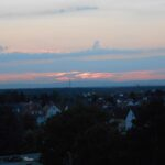 Sončni zahod v Darmstadt-u
