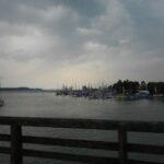 Jezero Chiemsee tik pred nevihto