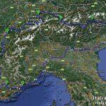 Načrt najine poti po Provansi, narejen v Google maps