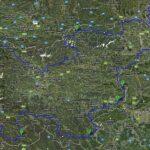 Načrt najine poti po Sloveniji, narejen v Google maps