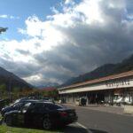 Zbiranje oblakov na poti v Salzburg