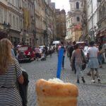 Stari del mesta in tipična češka sladica (Praga)