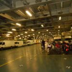 Eden od parkirnih prostorov na trajektu